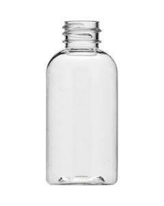 2 oz. Clear Boston Round PET Bottle, 20mm 20-410