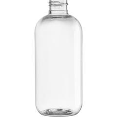 8 oz Clear PET Boston Round Bottle, 24mm 24-410, 24 Grams