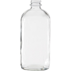 16 oz. Clear Boston Round Glass Bottle, 28mm 28-400