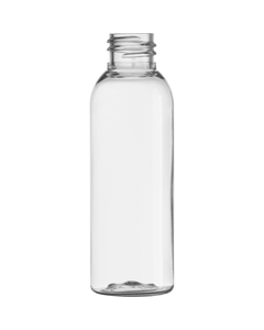 2 oz. Clear PET Plastic Bullet Bottle, 20mm 20-410