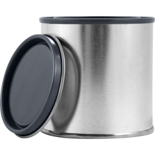 1/2 Pint Metal Paint Can with Lid, Gray Epoxy Phenolic Lined