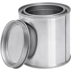 1/2 Pint Metal Paint Can with Lid, Unlined