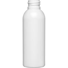 2 oz. White HDPE Plastic Bullet Bottle, 20mm 20-410