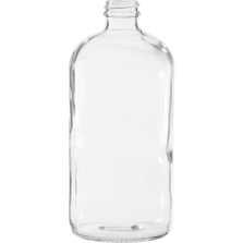 32 oz. Clear Boston Round Glass Bottle, 33mm 33-400