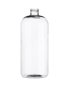 32 oz. Clear Boston Round PET Bottle, 28mm 28-410