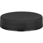 45mm 45-400 Black Ribbed (Matte Top) Plastic Cap w/Foam Liner (3-ply)