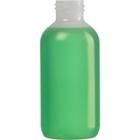 4 oz. Natural LDPE Plastic Boston Round Bottle, 24mm 24-410, 14.6 Grams