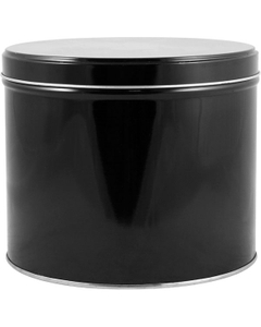 5 lb. (75 oz.) Black Deep Slip Cover Can and Lid