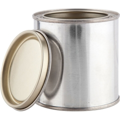 1/2 Pint Metal Paint Can w/Lid, Gold Phenolic Lined