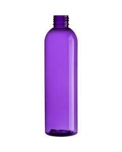 8 oz. Purple PET Plastic Bullet Round Bottle, 24mm 24-410