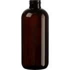 12 oz. Amber PET Plastic Boston Round  Bottle, 28mm 28-410