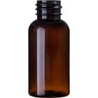 1.12 oz. (33 ml) Amber PET Plastic Boston Round Bottle, 20mm 20-410