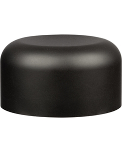 53mm 53-400 Black Smooth Child Resistant Cap (Unprinted), Unlined