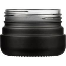 2 oz. Black Straight Sided Glass Jar, Thick Wall, 53mm 53-400