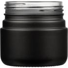3 oz. Black Straight Sided Glass Jar, Thick Wall, 53mm 53-400