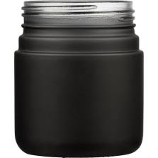 4 oz. Black Straight Side Glass Jar, Thick Wall, 53mm 53-400