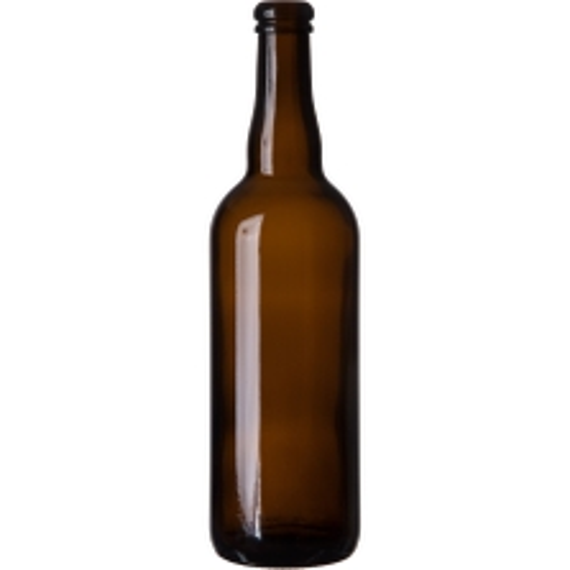 25.36 oz. (750 ml) Amber Glass Belgian Beer Bottle, Cork, 12/cs