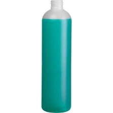12 oz. Natural HDPE Plastic Bullet Bottle, 24mm 24-410