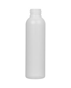 4 oz. Natural HDPE Plastic Bullet Bottle, 24mm 24-410