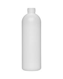 16 oz. Natural HDPE Plastic Bullet Bottle, 28mm 28-410