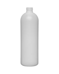 16 oz. Natural HDPE Plastic Bullet Bottle, 24mm 24-410