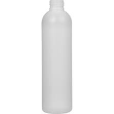 8 oz. Natural HDPE Plastic Bullet Bottle, 24mm 24-410