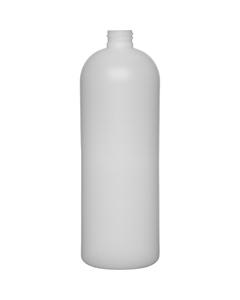 32 oz. Natural HDPE Plastic Bullet Bottle, 28mm 28-410