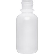 1 oz. Natural Boston Round LDPE Bottle, 18mm 18-410