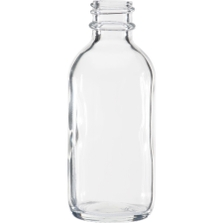 2 oz. Clear Boston Round Glass Bottle, 20mm 20-400