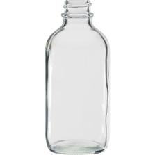 4 oz. Clear Boston Round Glass Bottle, 22mm 22-400