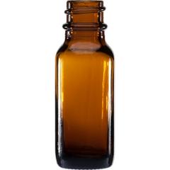 1/2 oz. Amber Boston Round Glass Bottle, 18mm 18-400