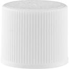 15mm 15-415 White Ribbed (Matte Top) Plastic Cap w/Foam Liner (3-ply)