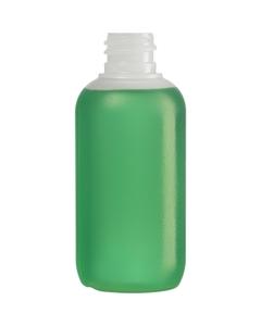 2 oz. Natural LDPE Plastic Boston Round  Bottle, 18mm 18-410