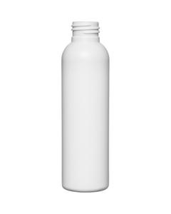 4 oz. White HDPE Plastic Bullet Bottle, 24mm 24-410