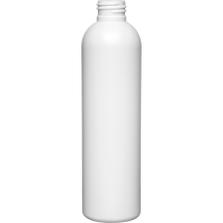 8 oz. White HDPE Plastic Bullet Bottle, 24mm 24-410
