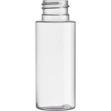 2 oz. Clear PVC Plastic Cylinder Bottle, 24mm 24-410