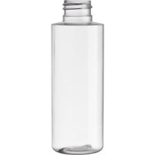 4 oz. Clear PVC Plastic Cylinder Bottle, 24mm 24-410