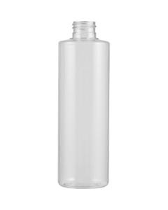 8 oz. Clear PVC Plastic Cylinder Bottle, 24mm 24-410