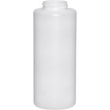 12 oz. Natural HDPE Plastic Cylinder Bottle, 38mm 38-400