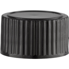 20mm 20-400 Black Polypropylene Cap with Poly Cone Insert