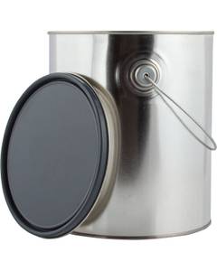 1 Gallon Metal Paint Can w/Ears, Bail and Lid, Gray Epoxy Phenolic Lined