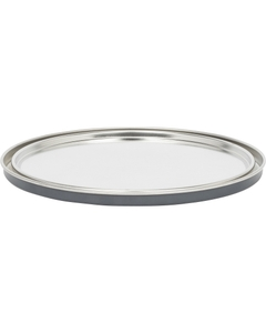 1 Gallon Metal Paint Can Lid, Gray Epoxy Phenolic Lined, 45 Grams