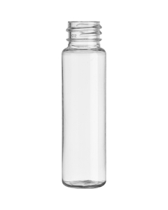 1 oz. Clear PET Plastic Cylinder Bottle, 20mm 20-410