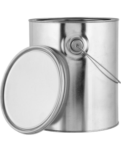 1 Gallon Metal Paint Can with Ears, Bail and Lid, Unlined