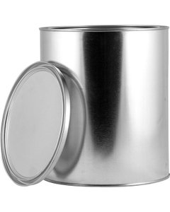 1 Gallon Metal Paint Can with Lid, Unlined