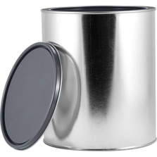 1 Gallon Metal Paint Can with Lid, Gray Epoxy Phenolic Lined