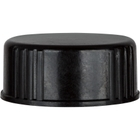 24mm 24-400 Black Polypropylene Cap with Poly Cone Insert