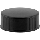 28mm 28-400 Black Polypropylene Cap w/Poly Cone Insert
