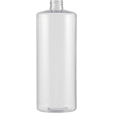 32 oz. Clear PVC Plastic Cylinder Bottle, 28mm 28-410