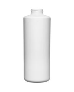 32 oz. White HDPE Plastic Cylinder Bottle, 38mm 38-400